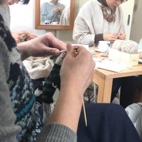 3月最初の編み物クラブ
