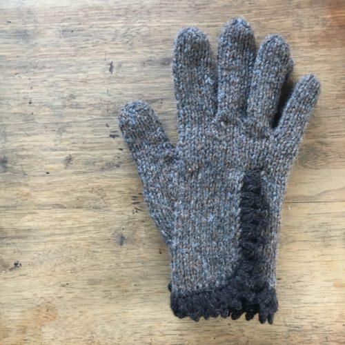 スリットレース手袋